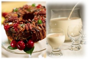 December is Eggnog and Fruitcake Month