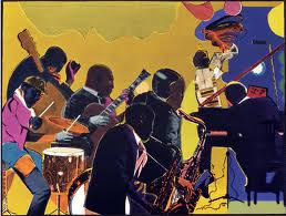 """Out Chorus"" by Romare Bearden"