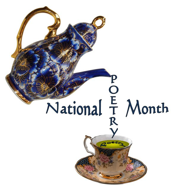 National Poetry Month Teapot and Teacup - Kym Gordon Moore