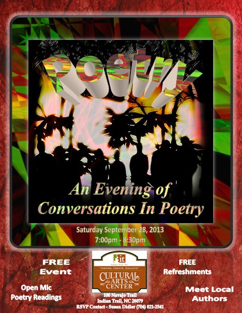 poetry, poetry readings, poetry open mic, cultural arts center