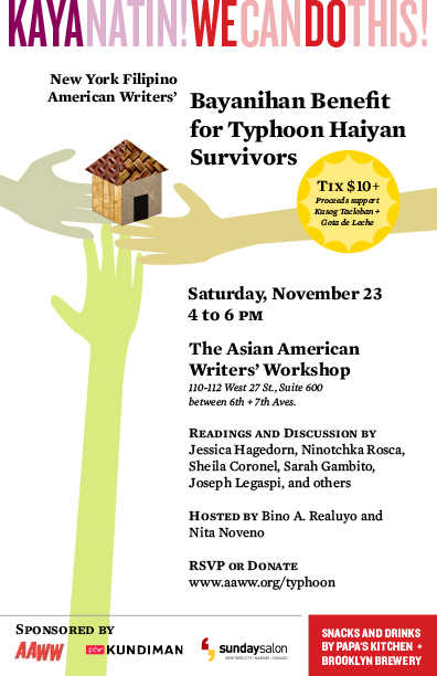 New York Filipino American Writers , Typhoon Haiyan, Storm in the Philippines