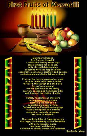 Maulana Karenga, Kwanzaa, First Fruits of Kiswahili, African Celebration of Family