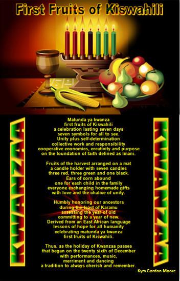 Maulana Karenga, Kwanzaa, First Fruits of Kiswahili, African Celebration of Family