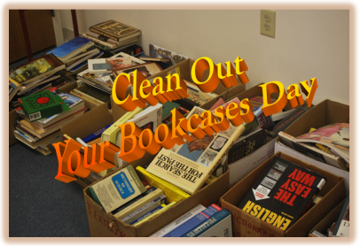 Clean out your bookcases day, reading books, book inventoyy