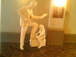 Shoe Shine Boy Sculpture, Ghost People, Crowne Plaza Hotel, Indianapolis