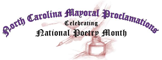 North Carolina Mayors, North Carolina Mayoral Proclamations, National Poetry Month