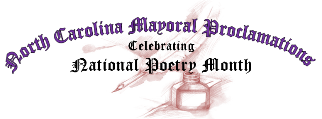 North Carolina Mayors, North Carolina Mayoral Proclamations, National Poetry Month