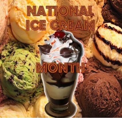 National Ice Cream Month, National Ice Cream Day, Celebrating Ice Cream, Ice Cream Holiday