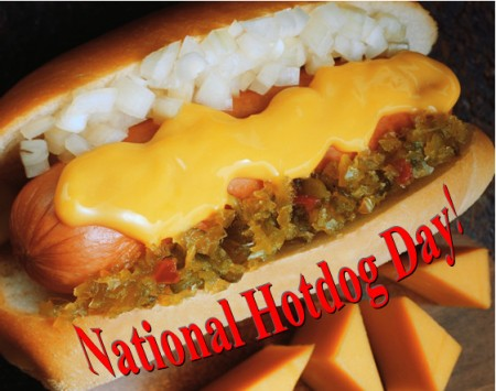 national hotdog day, national hotdog month, oscar mayer wiener, armour hotdogs