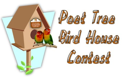 Poet Tree Bird House Contest, Bird Houses with Poetry, Poetry, From Behind the Pen