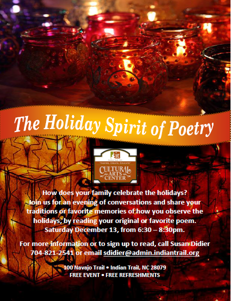 The Holiday Spirit of Poetry, Poetry, Poems for the Holidays