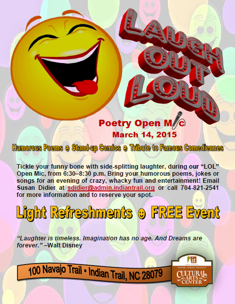 Indian Trail Cultural Arts Center, Poetry Open Mic