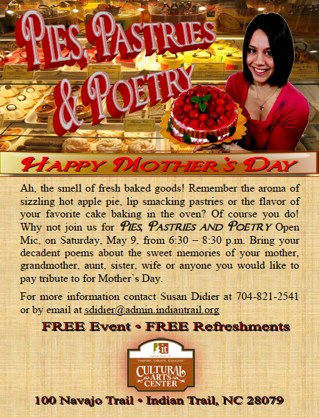 Mother's Day, Poetry Open Mic, Indian Trail Cultural Arts Center