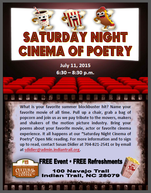 Poetry Open Mic, Poetry Reading, Indian Trail Cultural Arts Center