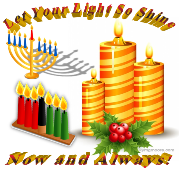 Chanukkah, Christmas, Kwanzaa, Candles