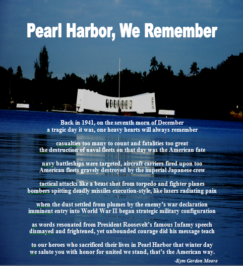 Remembrance Day Pearl Harbor >> Pearl Harbor, We Remember | From Behind the Pen