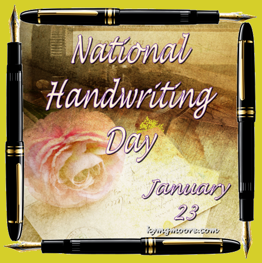 Handwriting, Writing, National Handwriting Day, From Behind the Pen