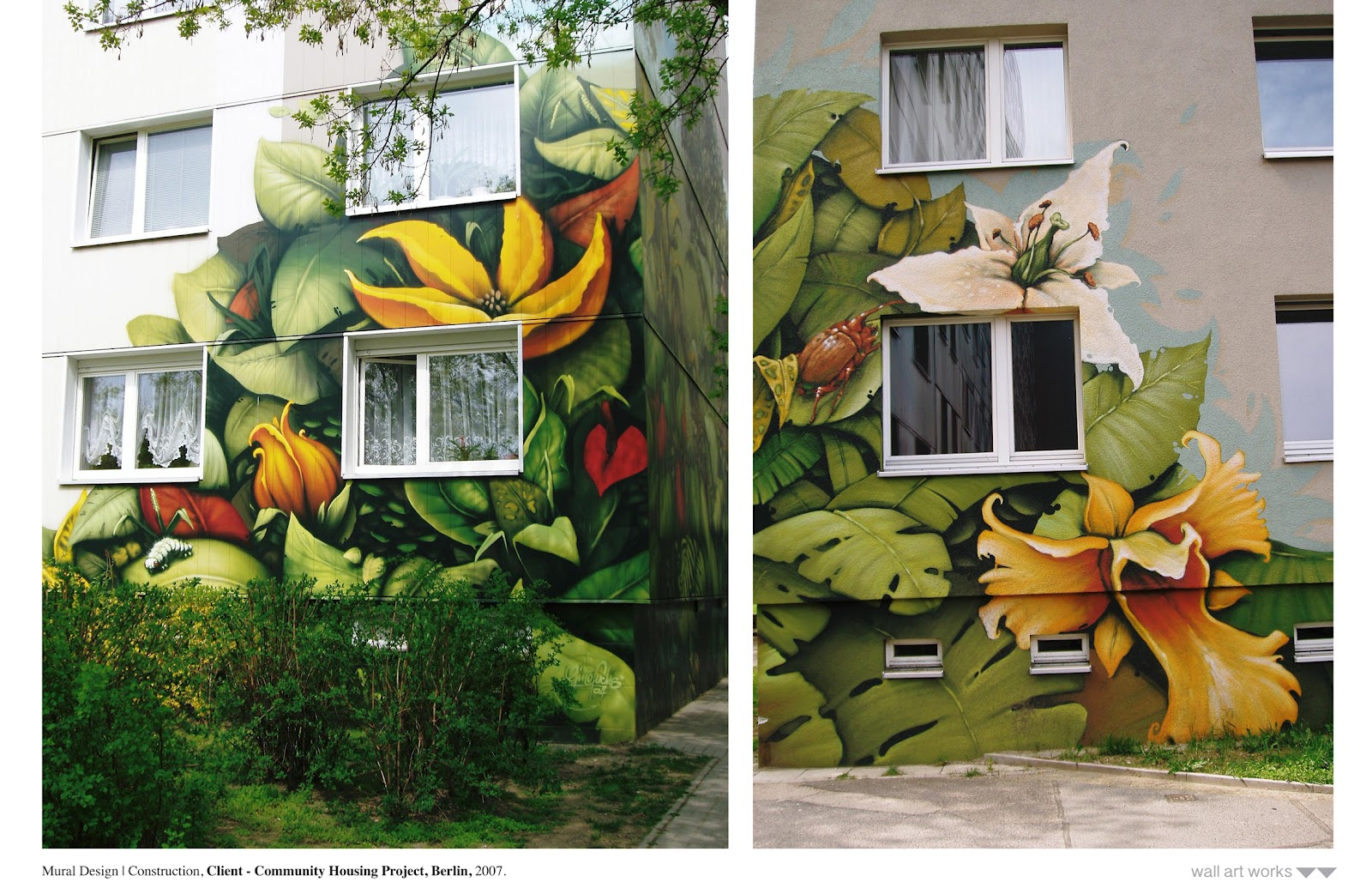 Murals Exterior Canvases Of Art From Behind The Pen
