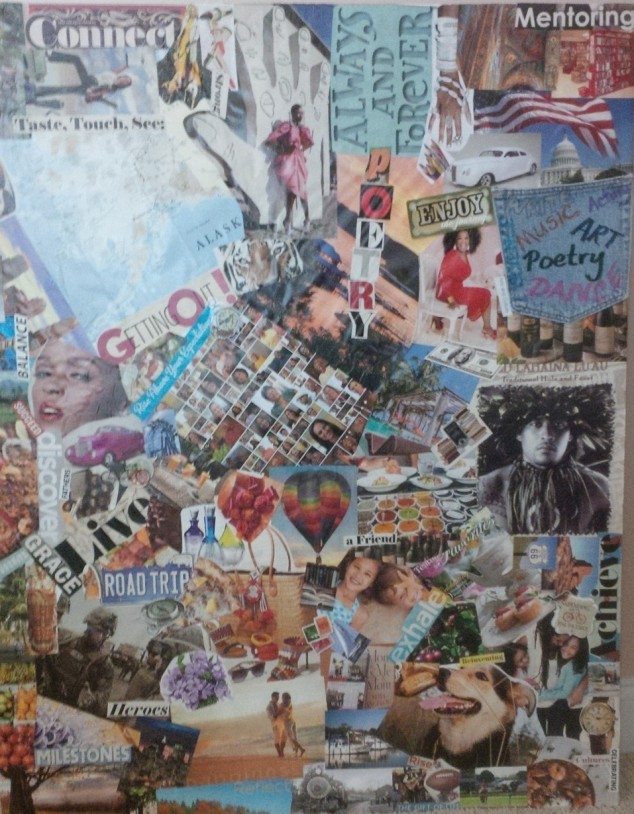 writer's block, collage, writing