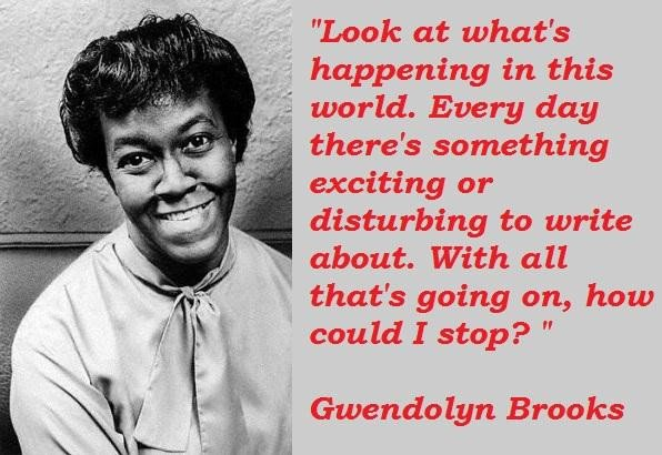 National Poetry Month, Gwendolyn Brooks, Poetry, Writing