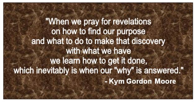 Empowerment, Encouragment, Kym Gordon Moore